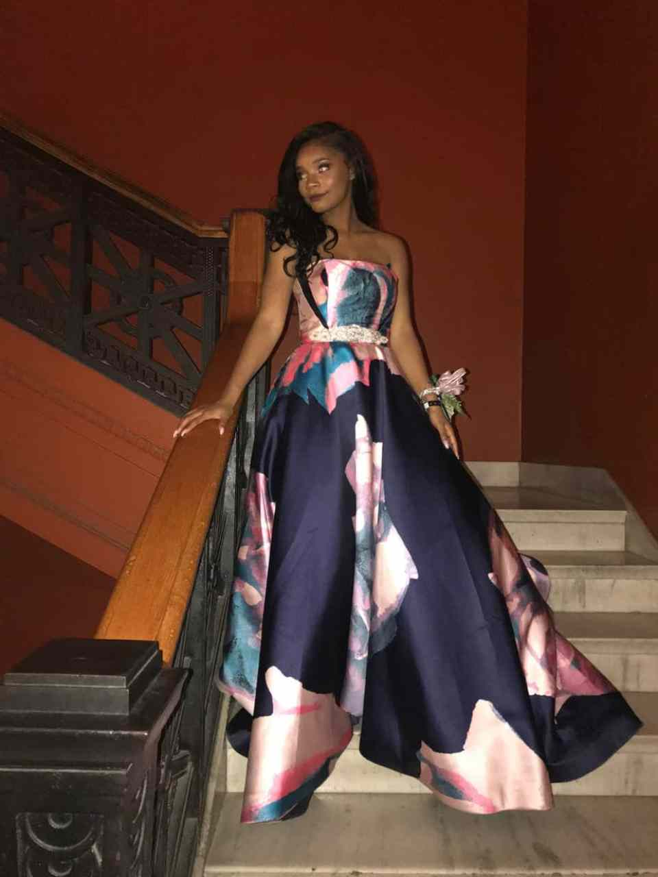 Kaylah Bell wearing her prom dress