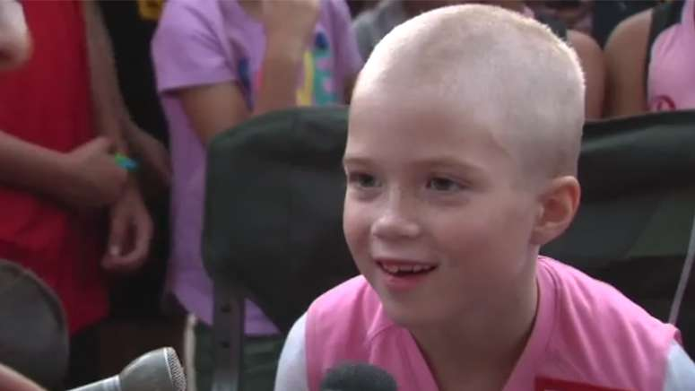 seven-year-old girl fighting cancer