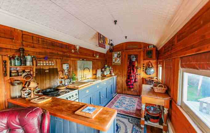 The couple's off grid home