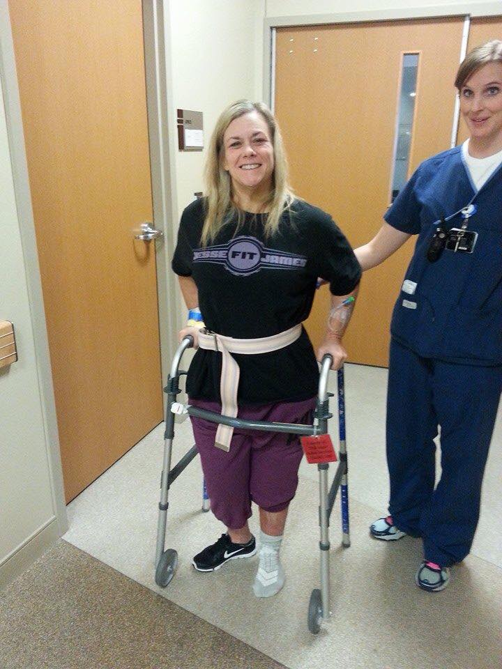 vicki-knee-reconstruction loses weight