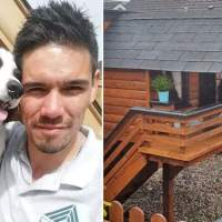 Man loved his dog so much that he built a cozy little cabin in his backyard just for her!