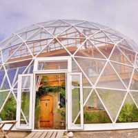 How one family is thriving in the Arctic inside a beautiful solar geodesic dome home