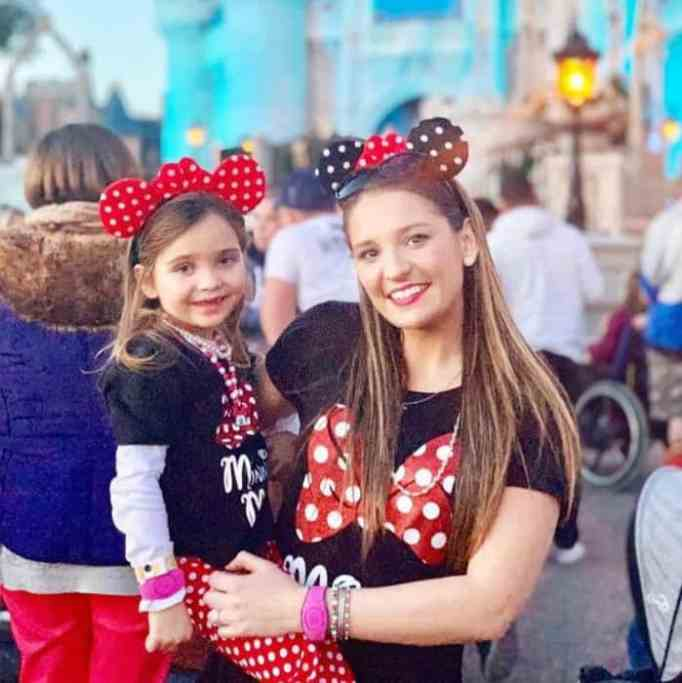 Haley with mom at Disney.