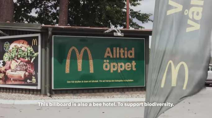 McDonald roadside tiny bee hotels.