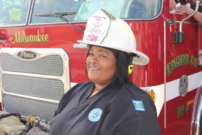 Chanaye Brown honored by Milwaukee Fire Department