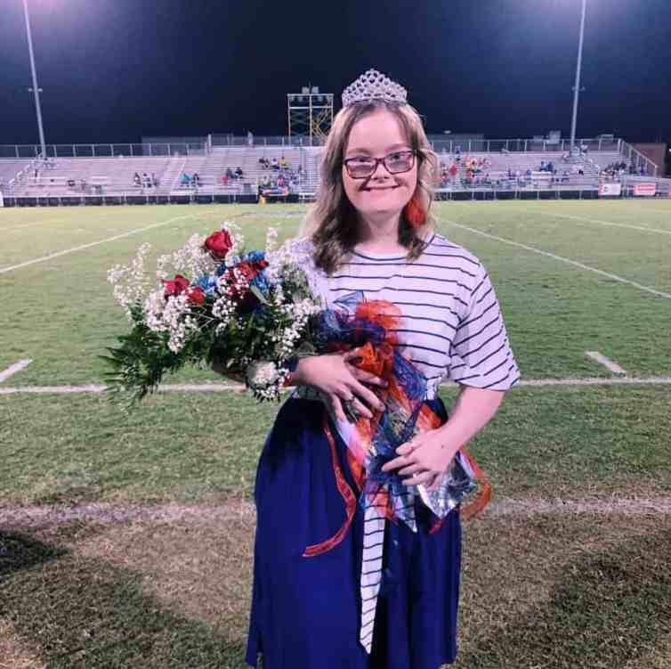 Homecoming queen aspirant with epilepsy.