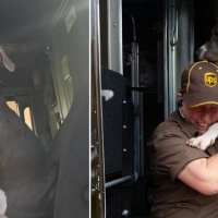 UPS driver adopts friendly pittie on her route after his owner dies