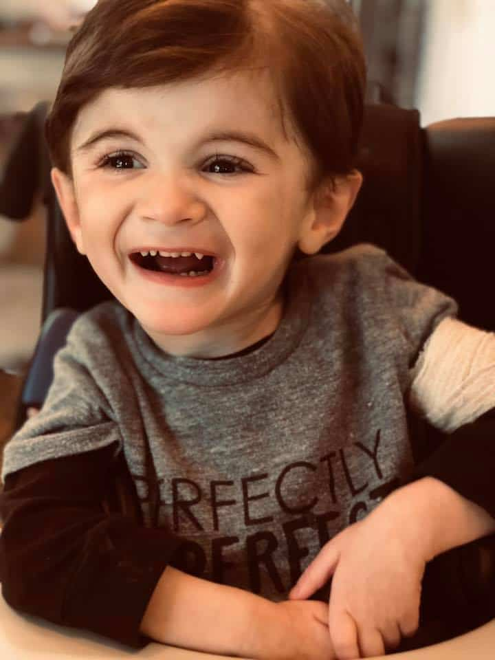 Boy with spinal muscular atrophy celebrates third birthday.