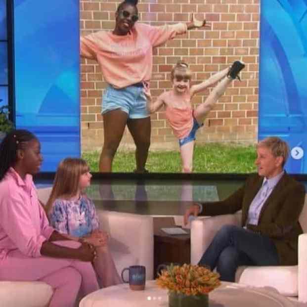 The dance duo on Ellen DeGeneres talk show