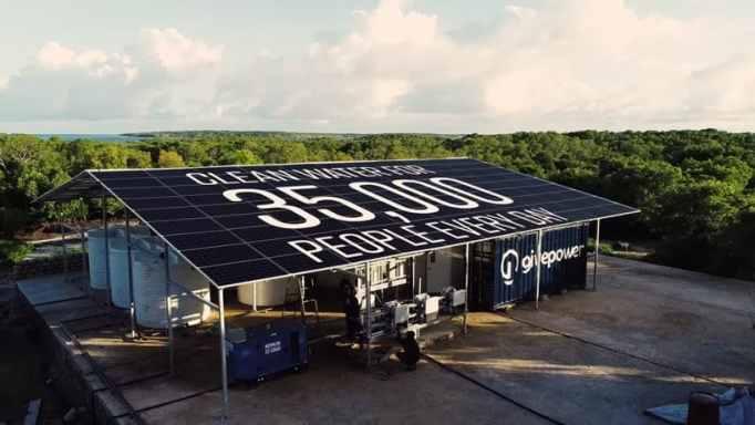 Sustainable solar power farm.