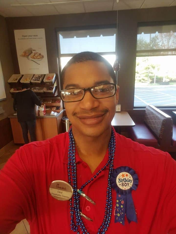Chick-fil-A manager Daryl Howard