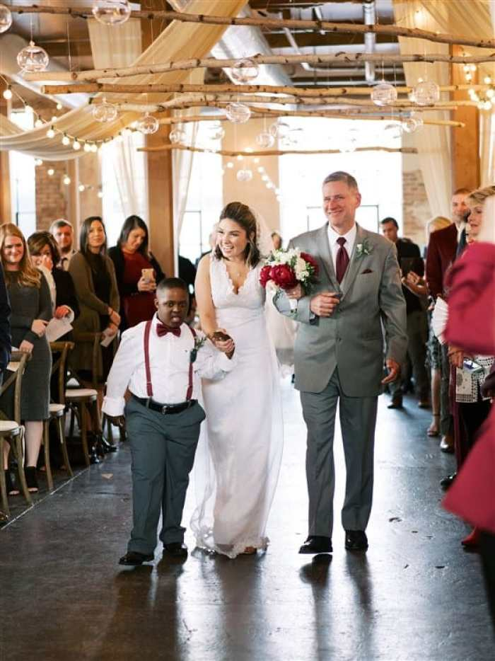 SPED teacher includes special needs kids in her wedding.