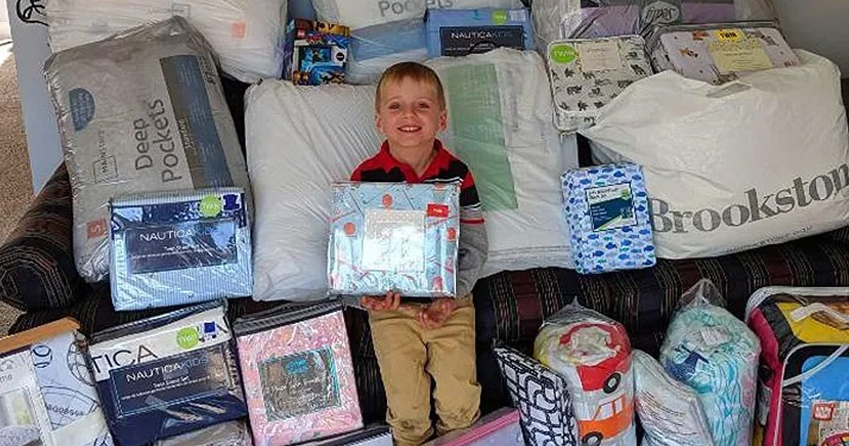 5-yo boy asked for bedding donations instead of toys as birthday gift to give to kids in need - my positive outlooks