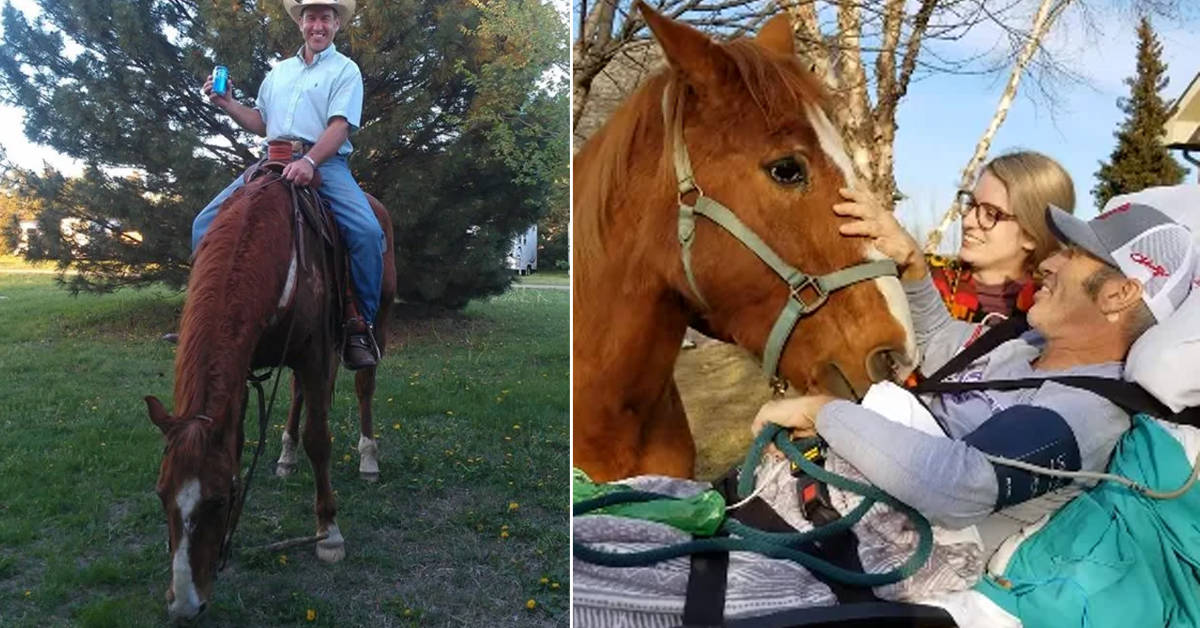 As dying wish, man with cancer sees his beloved horse one last time - my positive outlooks