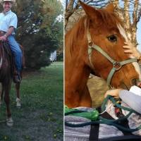 As dying wish, man with cancer sees his beloved horse one last time