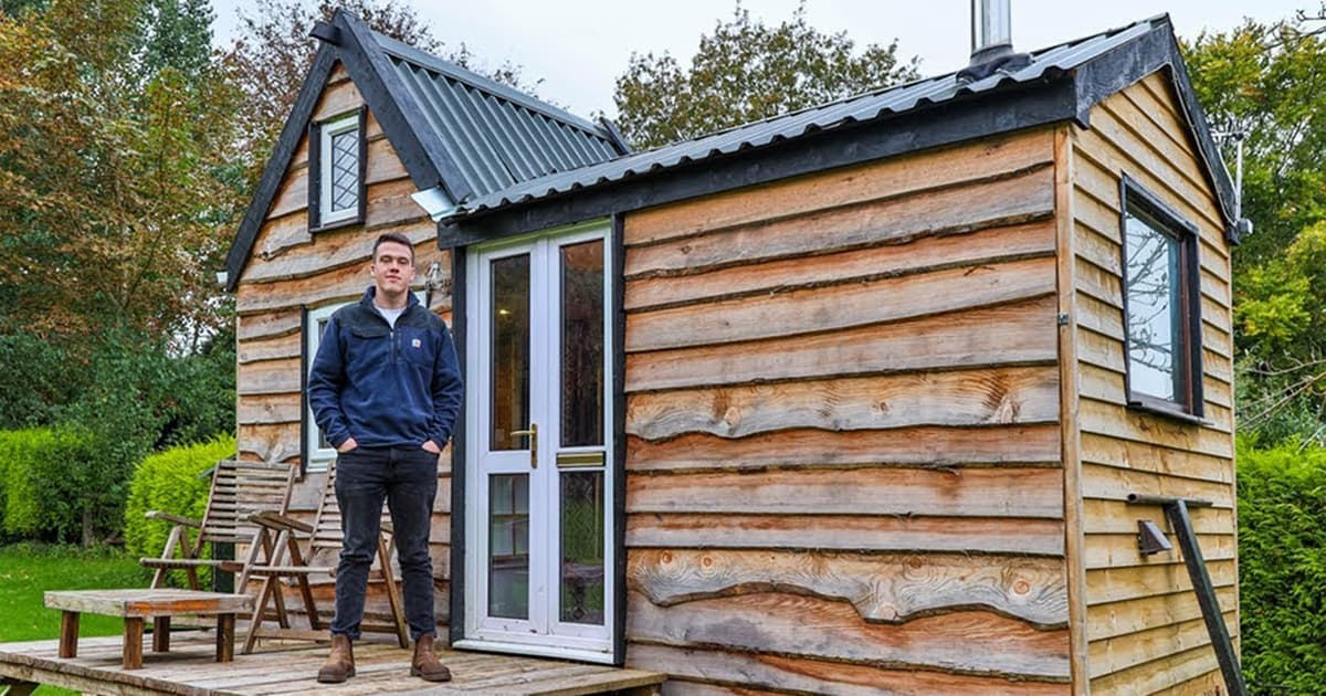 Teen built his dream tiny house from scratch using recycled materials, take a look inside - my positive outlooks