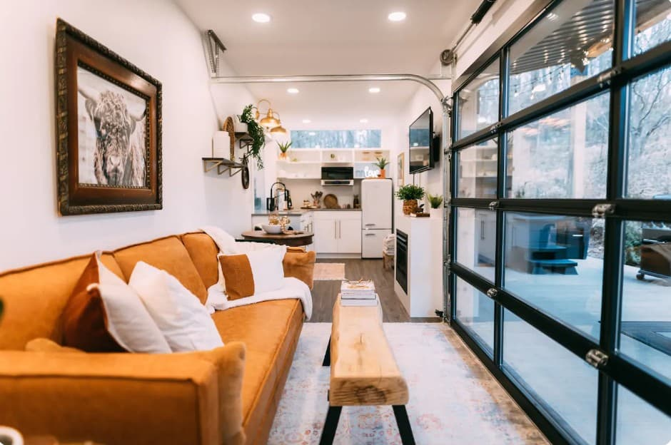 Tiny home made of shipping container.