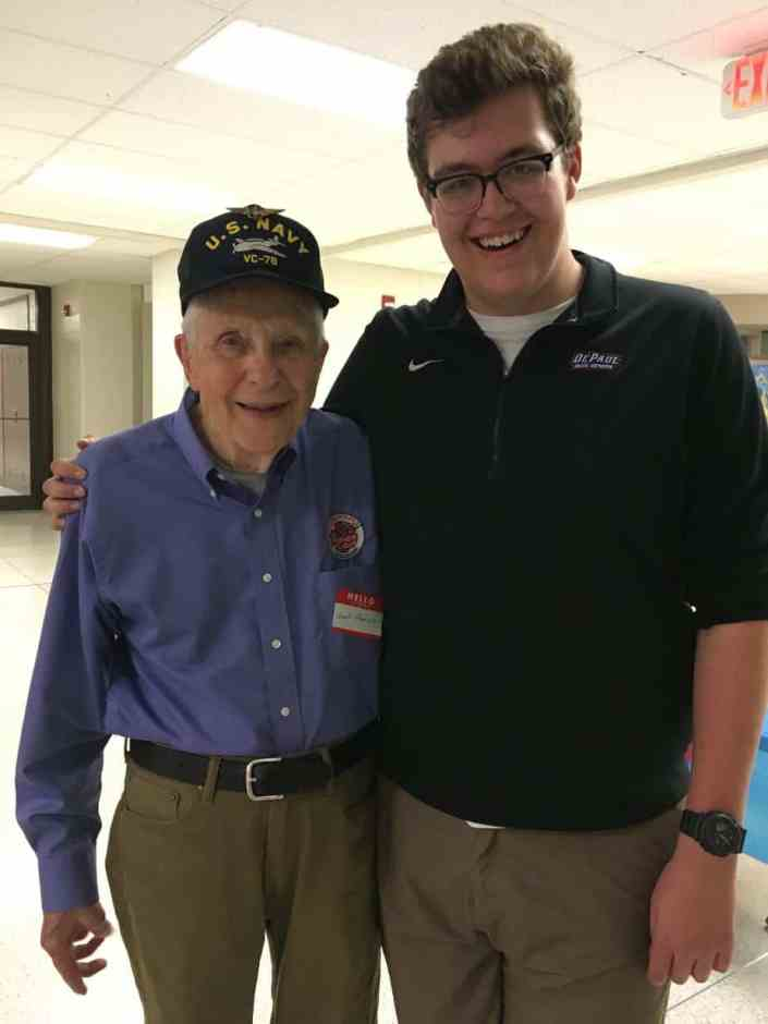 Chuck Frankze with Stars and Stripes Honor Flight staff