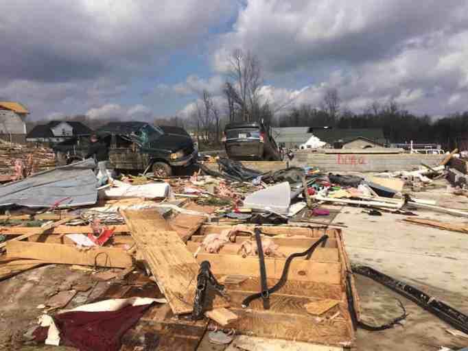 Tornado destroyed a community.