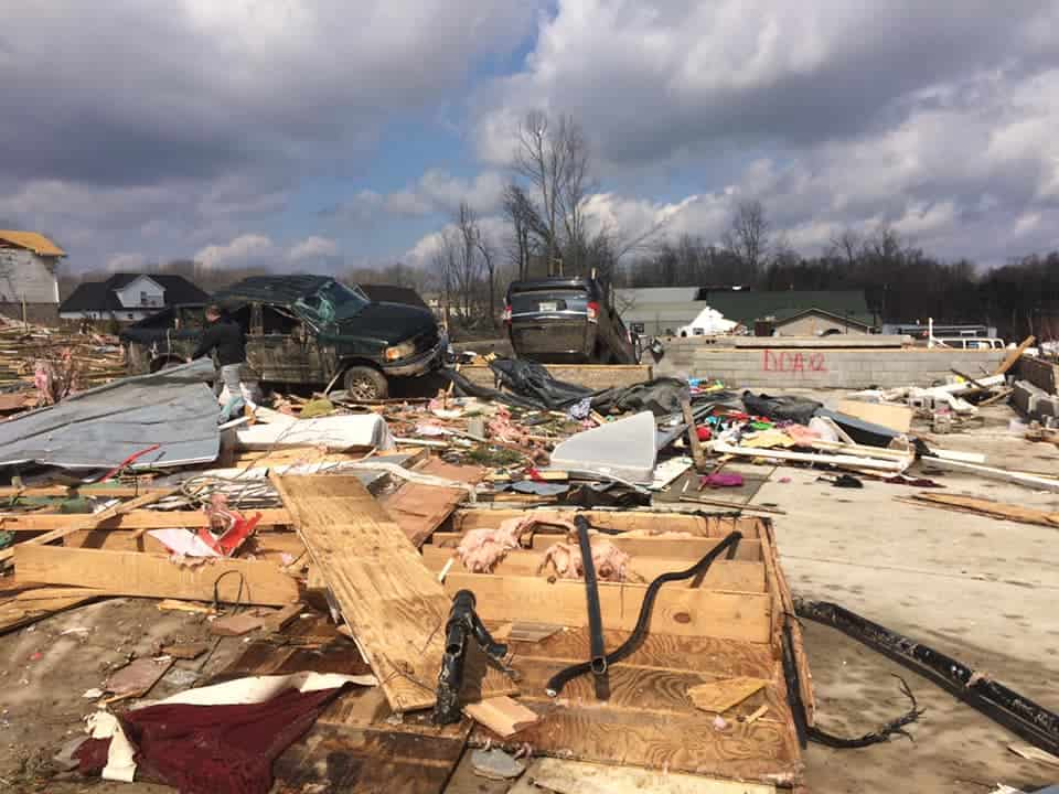 Tornado destroyed a community.