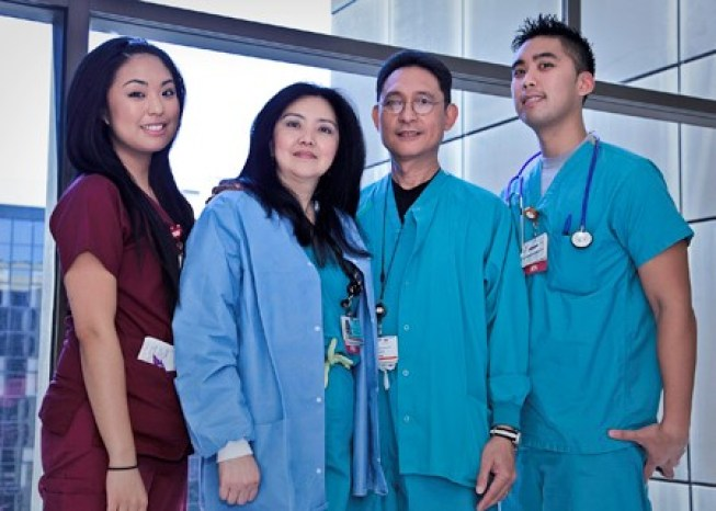 A family of four are all nurses at Cedars-Sinai