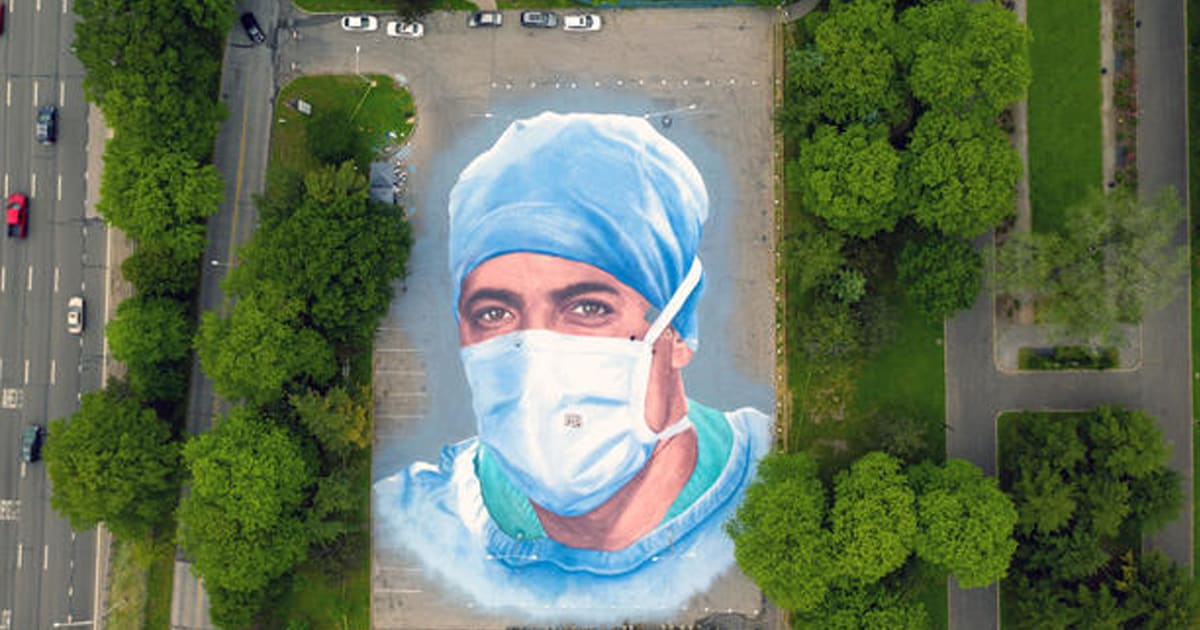 Massive mural of a doctor who died of COVID-19 honors immigrant healthcare workers in NY city - my positive outlooks