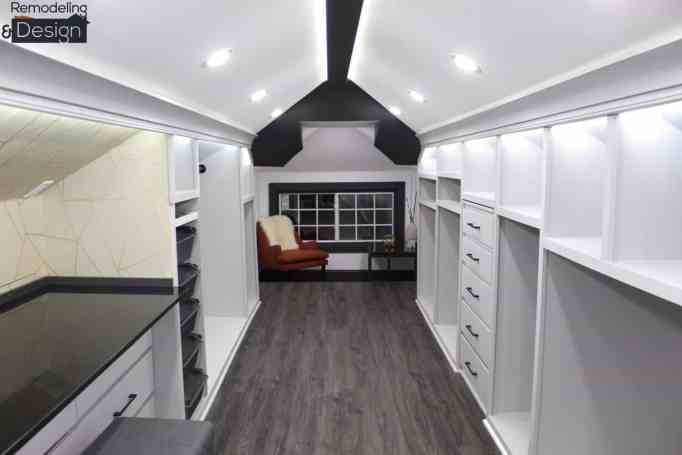 Attic remodeling project.