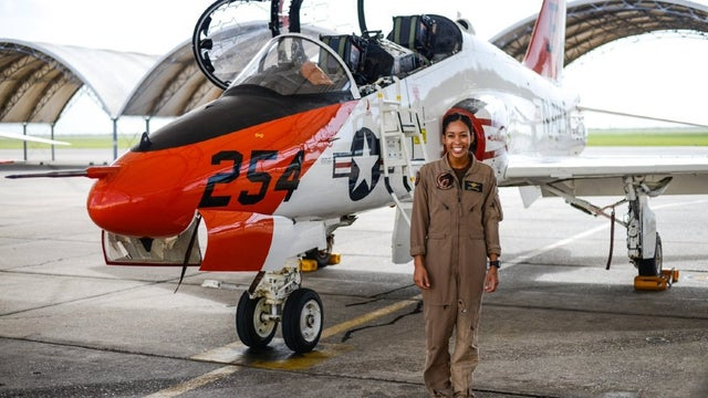 U.S. Navy's first female black pilot fighter