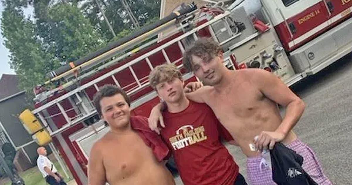 Três adolescentes arriscam suas vidas para salvar moradores e seus animais de estimação dos incêndios domésticos 9