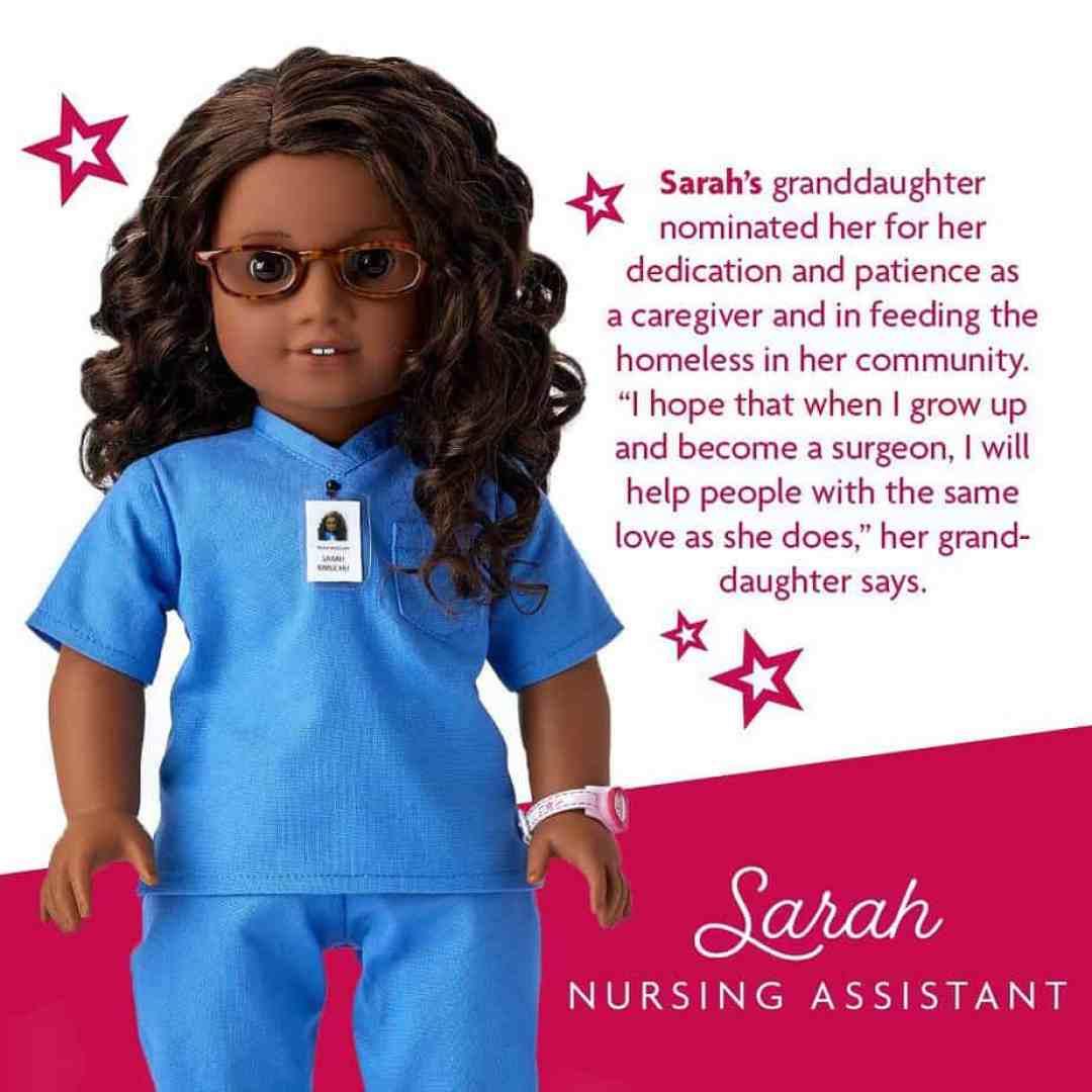 Sarah : American Girl dolls pandemic heroes