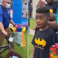 Cop who handled boy's stolen bike case surprised him with a new one on his birthday