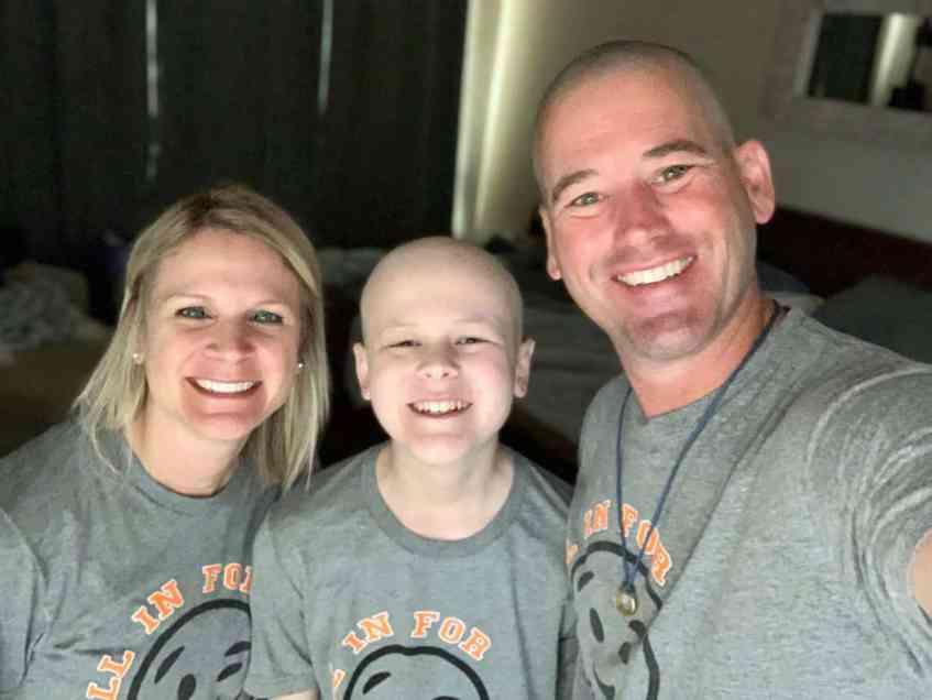 Lori Yielding, Aiden Yielding, and Chuck Yielding smiling for a photo