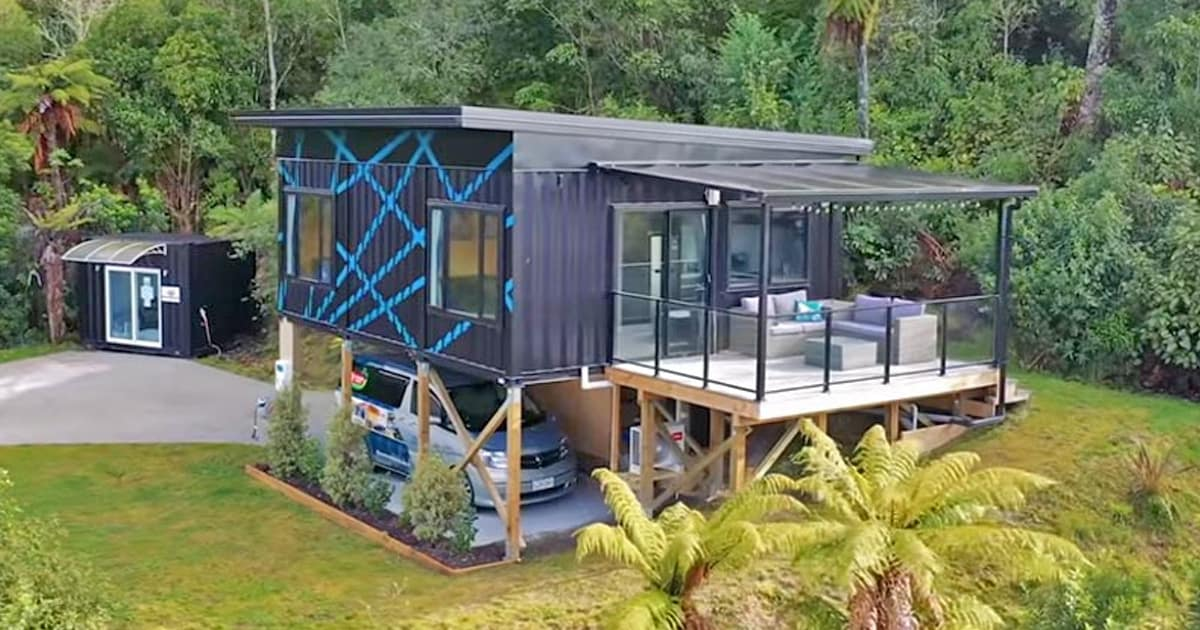 This gorgeous modern tiny home is made from 3 x 20ft shipping containers, take a tour inside - my positive outlooks