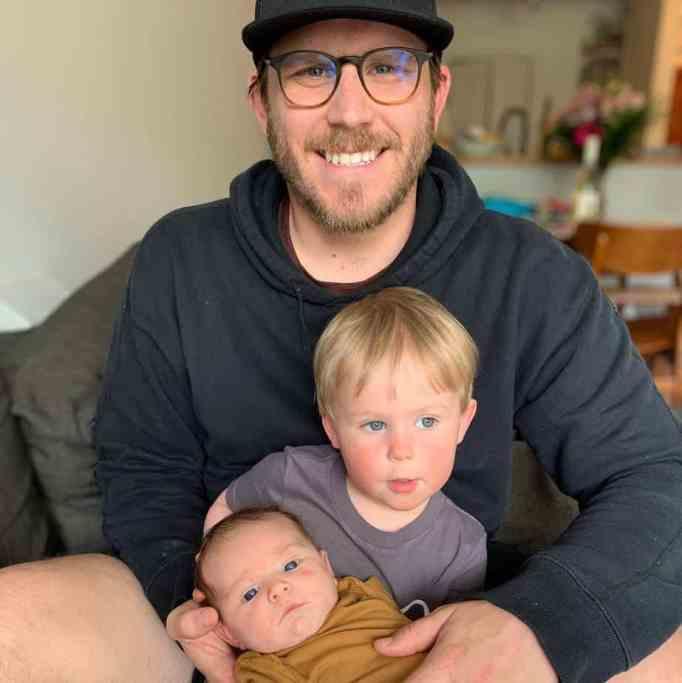 Scott Van Doormaal with his son and daughter Lucy, muscular atrophy
