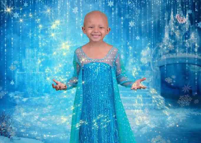 Arianna Taft wearing an Elsa costume