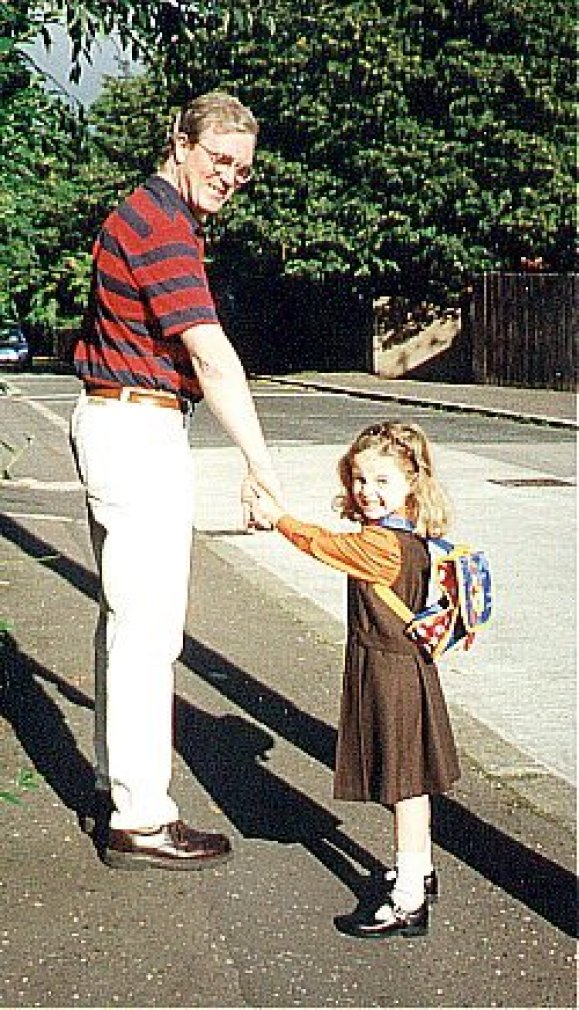 Ciarán Shannon with his daughter Niamh