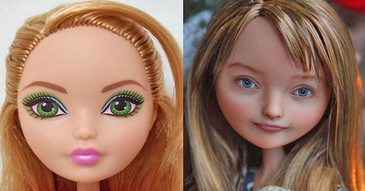 This artist repaints dolls and gives them a 'flawed' and more realistic appearance - my positive outlooks