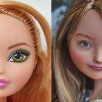 This artist repaints dolls and gives them a 'flawed' and more realistic appearance
