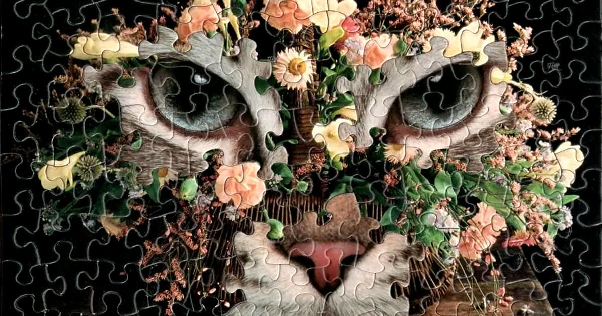 Artist merges different sets of vintage jigsaw puzzles to create surreal hybrid images - my positive outlooks