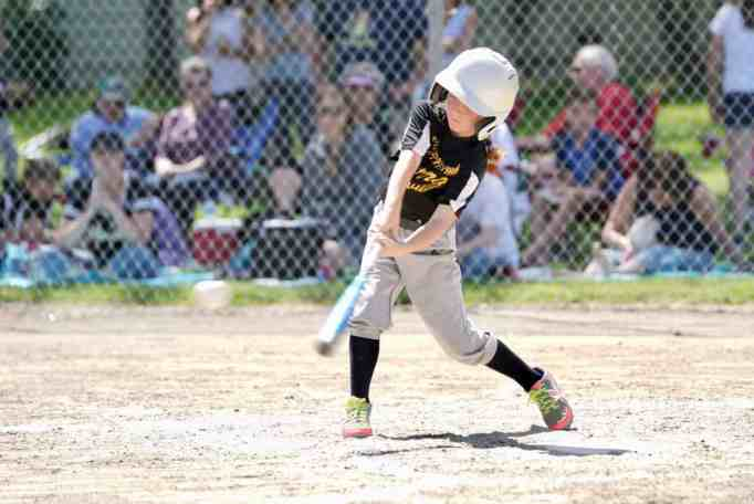 Reese Osterberg playing baseball
