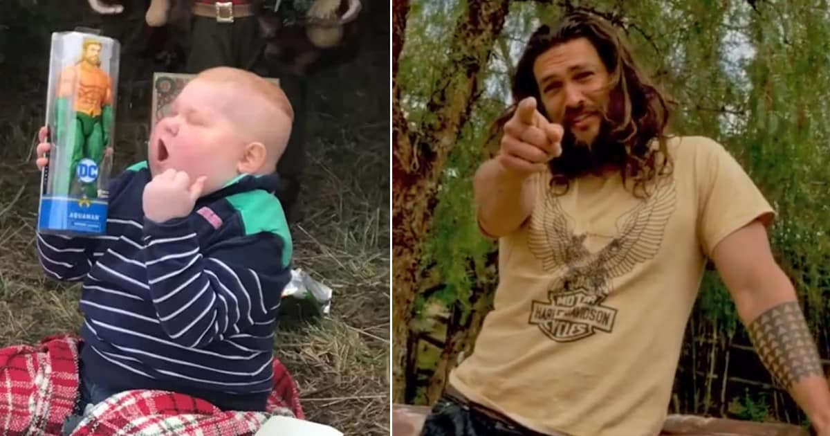 Jason Momoa surprises biggest 'Aquaman' fan after seeing viral video of boy with cancer - my positive outlooks