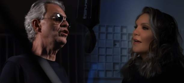 Andrea Bocelli and Alison Krauss sing Amazing Grace in perfect harmony.