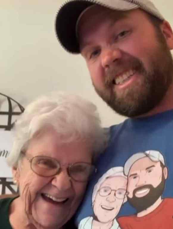 Grandma Bobbe and Matthew Stewart