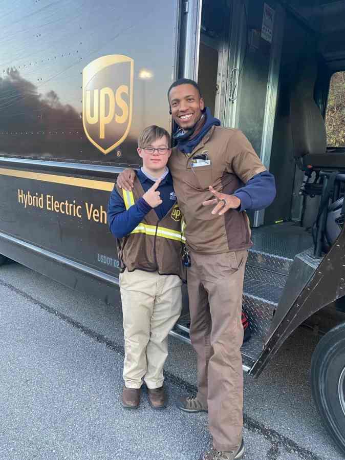 Jake Pratt and his UPS truck driver, Richard
