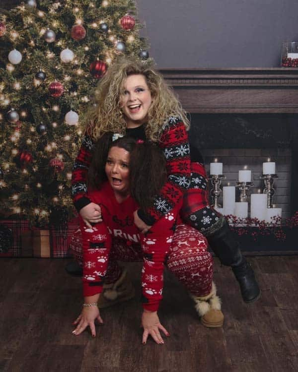 Best friends of over 10 years decide to randomly get ugly sweater photoshoot, instantly goes viral