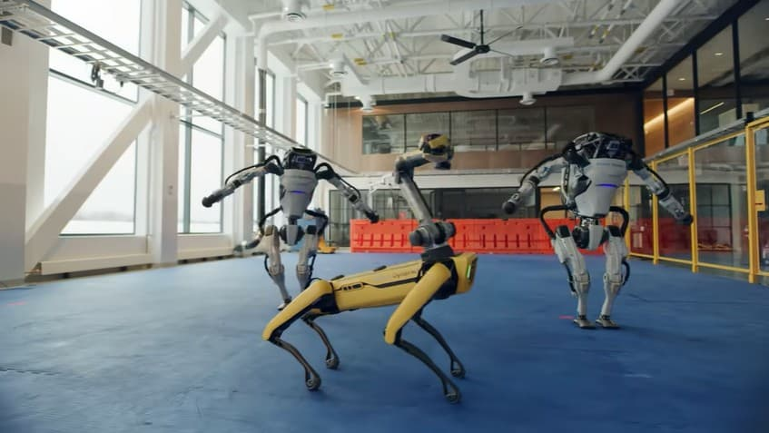 Atlas and Spot robots dancing to Do You Love Me by The Contours