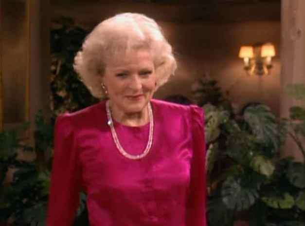 Betty White on Golden Girls TV show