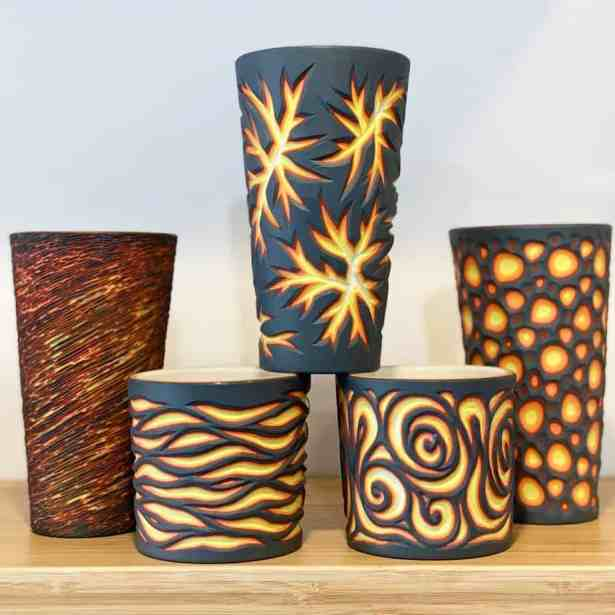 Colorful ceramics by Sean Forest Roberts