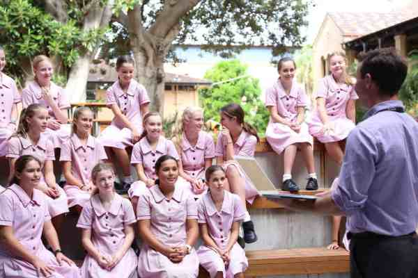 Students at Stella Maris College Manly