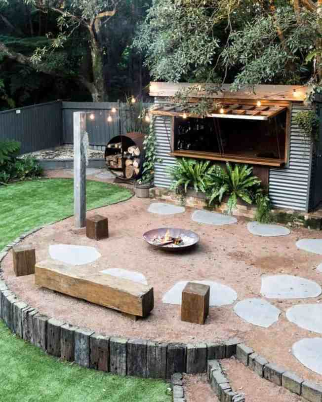 Modern backyards now have bar sheds.